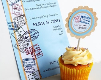 The Traveler's Printable and EDITABLE Party Invitation