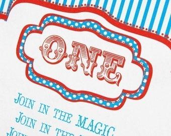 Vintage Carnival Printable Editable Invitation