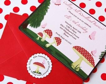 Woodland Fairy Printable EDITABLE Invitation