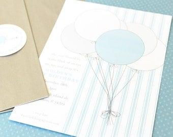 Balloons Make Me Happy Printable EDITABLE Invitation
