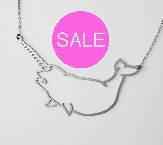 Stainless Narwhal Necklace