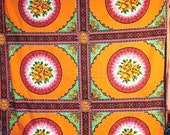 1960s Mexican Orange Rose Tablecloth