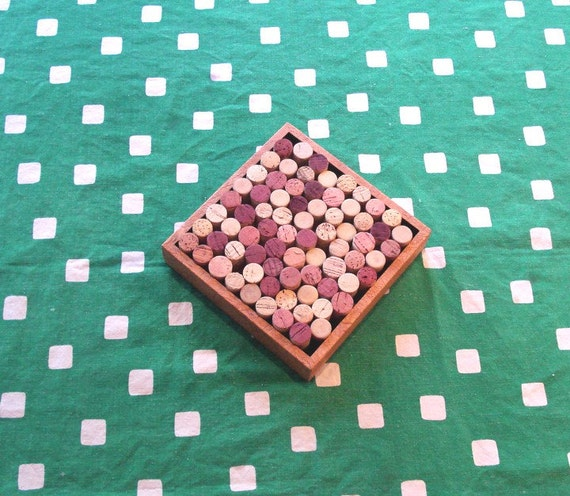Wine Cork Trivet repurposed from a wall decoration by Lolailo
