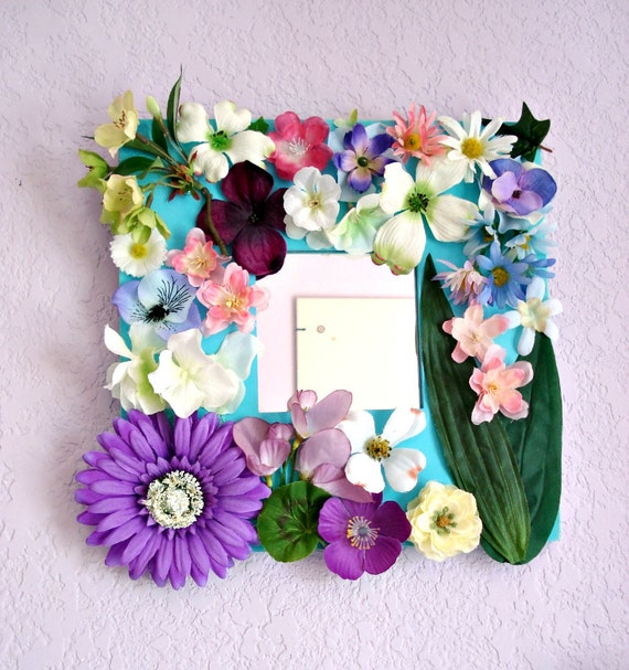 Wall Mirror with flowers by Lolailo