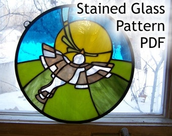 Pattern for Stained Glass Peace Dove 12 inch Circle