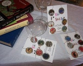 My Favorite Books Wine charms--made to order