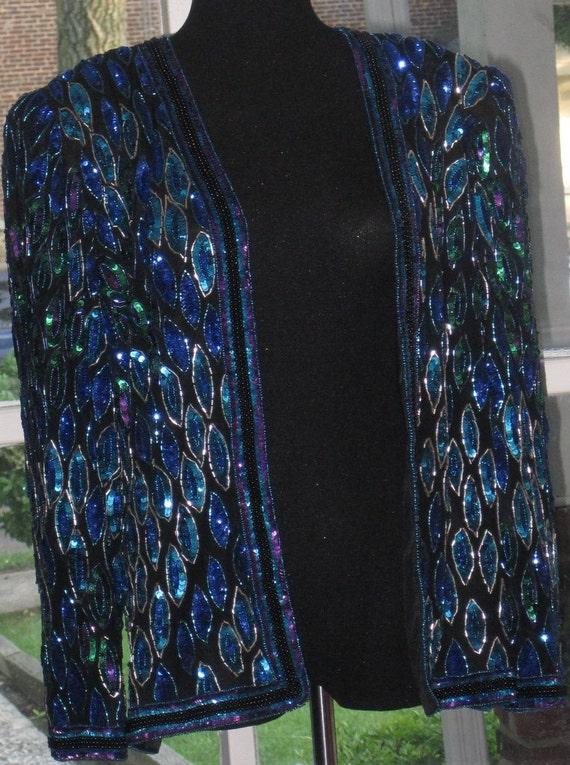 80s GLAM Sequin Top Jacket