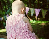 Swing Back Butterfly halter top and bottoms set (either diaper cover or shorts/bloomers), ruffle fabric.  Newborn - 3T