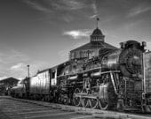 Baltimore Art, Train Photography, Steam Engine, Baltimore and Ohio, Black and White Fine Art Photography, Railroad Photography