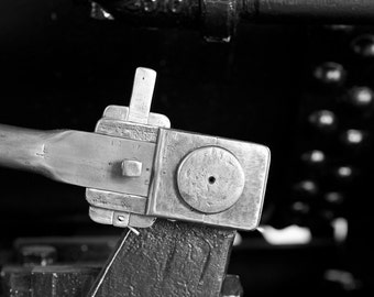 Steam Engine Push Rod, Train Art, Train Photography,  Black and White Fine Art  Photography, Railroad Art, Railroad Photography