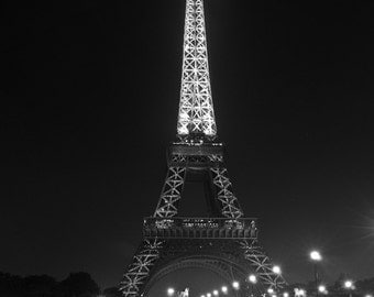 Paris Photography, Eiffel Tower, Black and White Fine Art Photography, Paris Decor, Eiffel Tower Photo