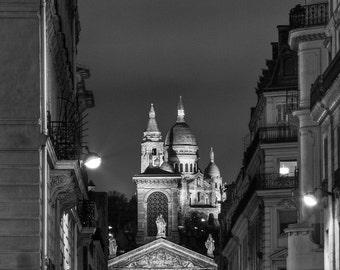 Paris Photography, Sacre Coeur - Balck and White Fine Art Photography, Giclee Print, Paris Decor