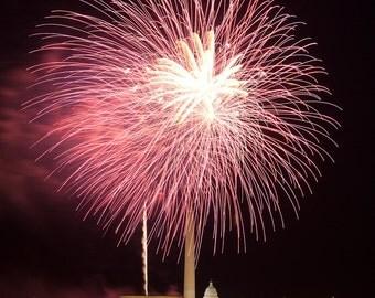Washington DC Art , 4th of July Fireworks, Fine Art Photography,Washington DC Print, Washington DC Photography, Washington dc Art