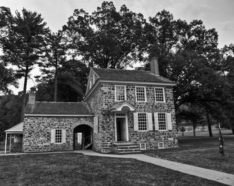 George Washington Home, Valley Forge, Fine Art Black and White Photography