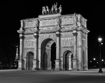 Paris Photography, Arc de Triomphe du Carrousel, Black and White Fine Art photography, Paris Decor