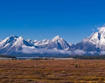 Teton Mountain Range, Wyoming Art, Mountain Art, Rustic, Mountain Photography, Wyoming Photography, Fine Art Color Print