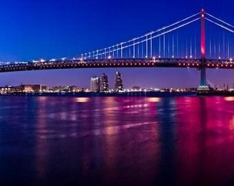 Ben Franklin Bridge, Philadelphia Skyline, Fine Art Photography