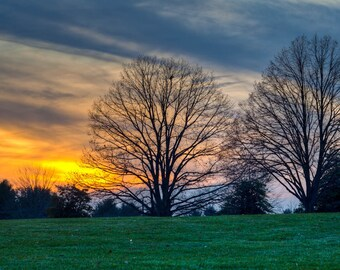 Maryland Art, Antietam Winter Sunset, Fine Art Photography, Maryland Color Photography, Civil War