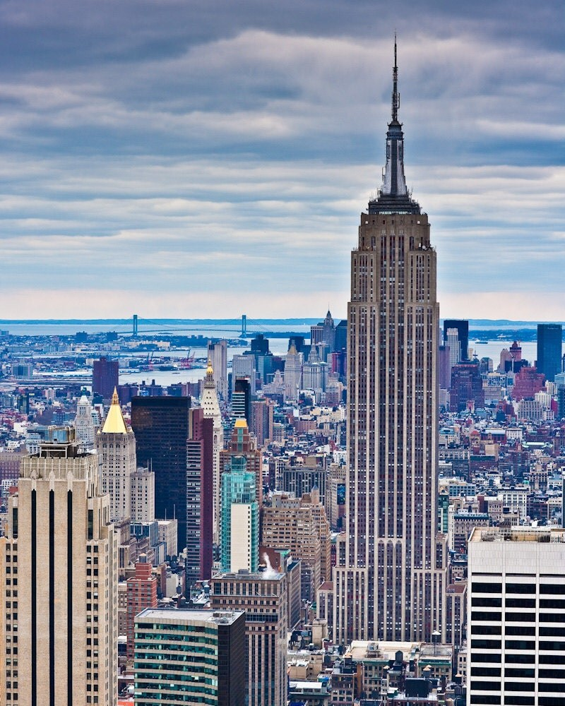 new york skyline empire state building from 30 rock fine art. Black Bedroom Furniture Sets. Home Design Ideas