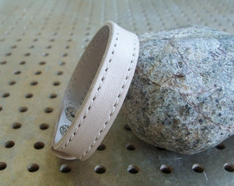 Cream Leather Bracelet