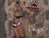 Necklace.Bird.Picasso.Jasper.Copper.Chain.HandmadeTwigs