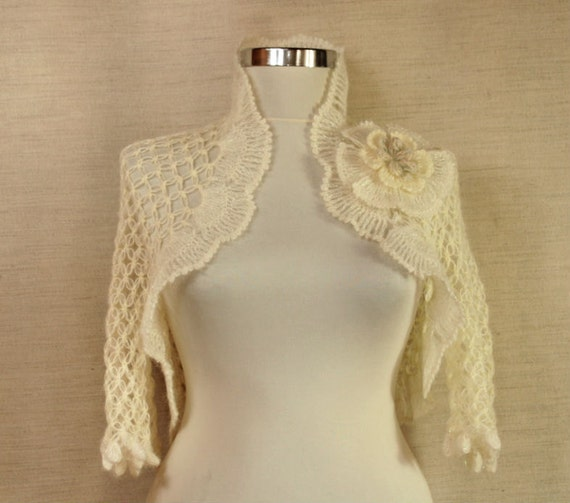 Ivory Dreams / Ivory Bridal Shrug Wedding Bolero Ruffle Crochet Shrug Bolero Wedding Wrap Bridal Bolero Jacket  Wedding Accessory Shawl