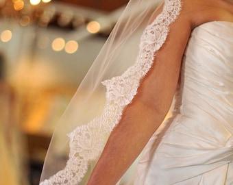 Lace wedding veil, Chapel lace veil, Cathedral lace veil, Cathedral veil, Custom lace veil, Lace bridal veil, Mantilla veil