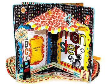 Vintage Circus and Carnival theme  Pop up Book  Class and tutorial