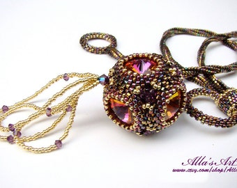 Crown Jewels seed bead necklace