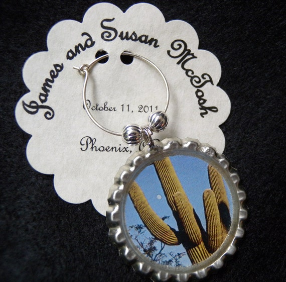 Wedding Favors Personalized Wine Charms Picture By SureToBeCharmed