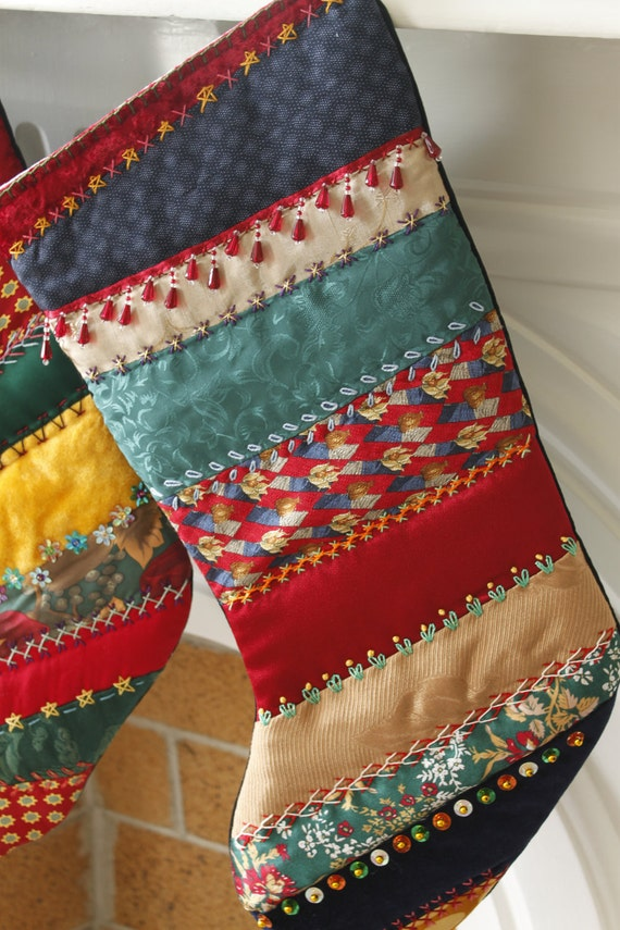 Crazy Quilt Christmas Stocking