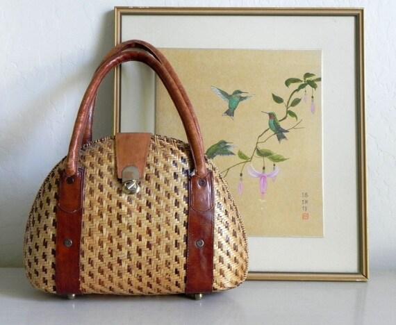 Vintage Large Woven Handbag