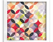 FREE Shipping - Modern Art Print - 12inx12in Geometric Circle Pattern 2
