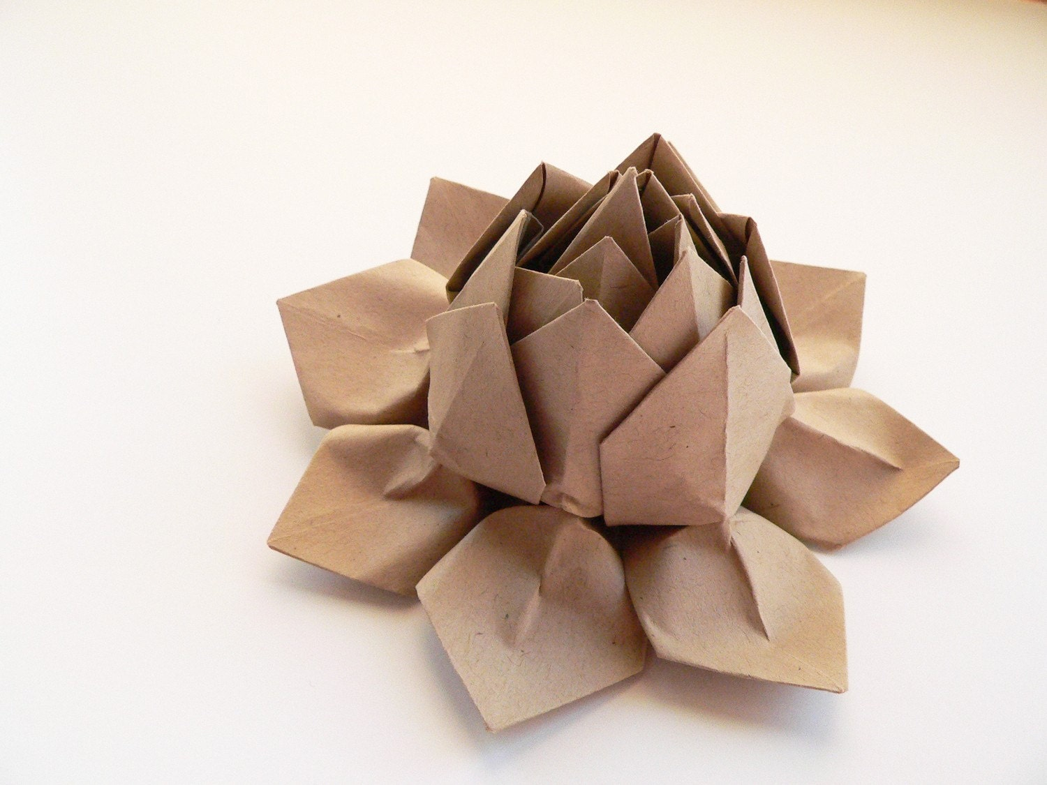 origami lotus flower decoration gift or favor      paper bag