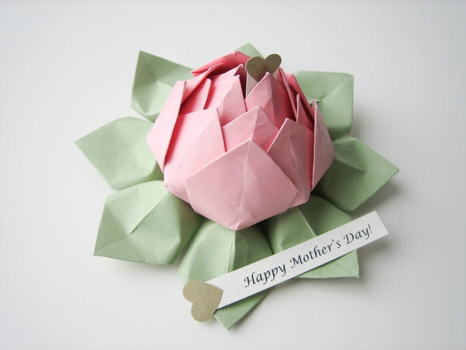 PERSONALIZED Mother's Day Gift Origami Lotus Flower - photo#4
