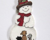 Snowman and animal friends ornament