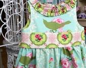 Girls Spring Easter Dress-  Garden District Seafoam