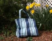 Special Order - CUSTOMIZED - Blue Cabana Stripe