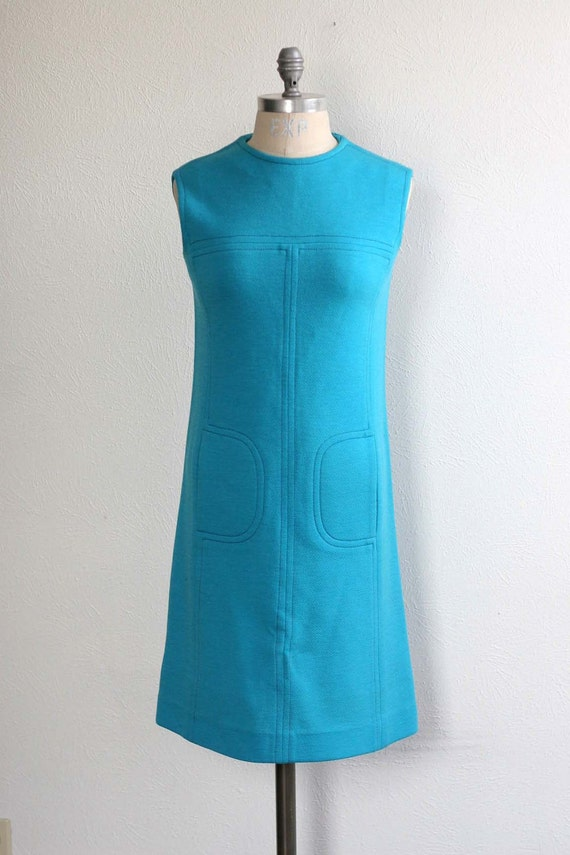 Reserved for Vicki Super Mod Miss Twiggy Dress with Pockets