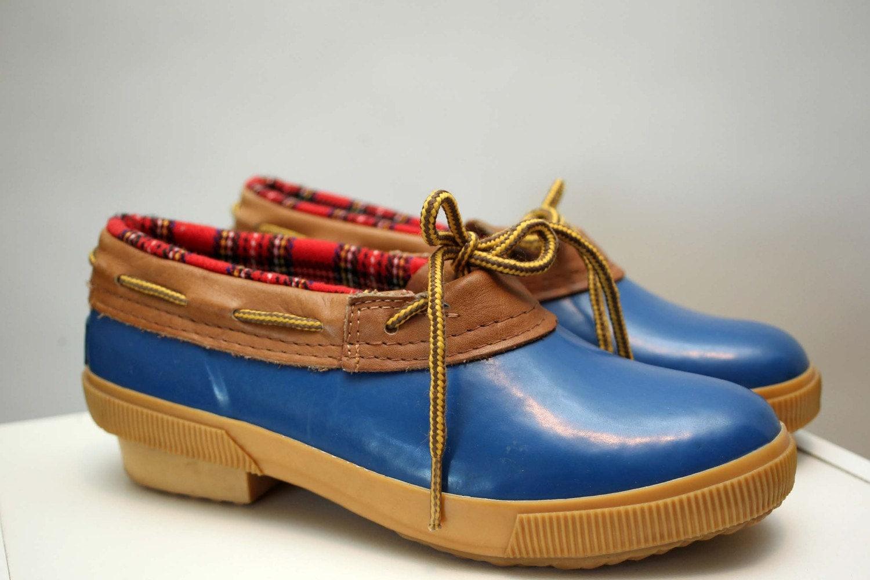 Lands End vintage galoshes rain boots rain shoes by dingaling