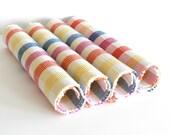 Vintage Placemats Plaid Ribbed Cotton Placemats