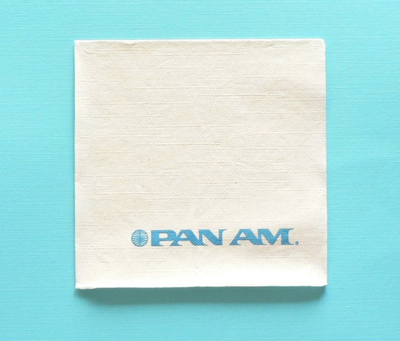 Vintage Pan Am Napkins Cocktail Napkins Pan Am Pepsi