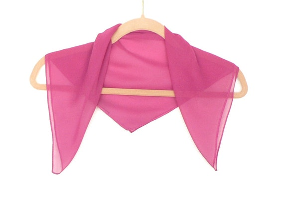 Pink Fuchsia Silk Chiffon Scarf