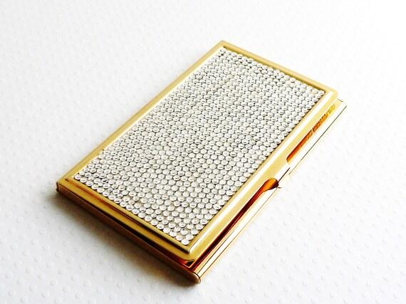 Vintage judith leiber business card holder swarovski crystals for Vintage business card case