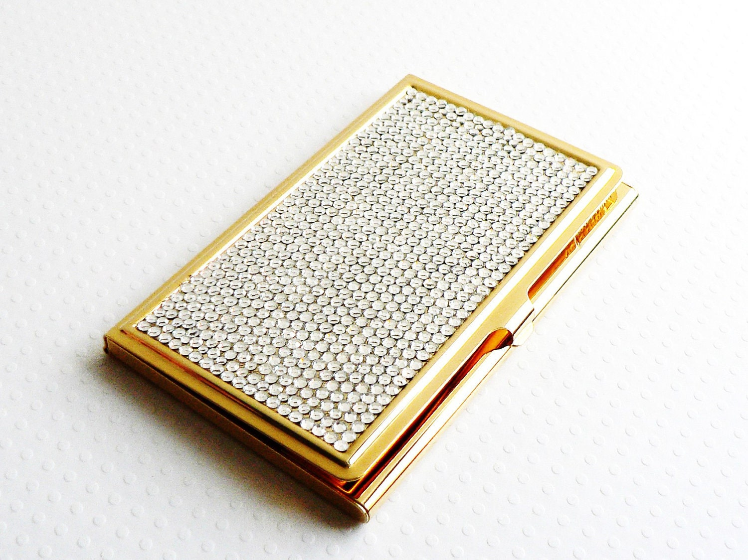 vintage judith leiber business card holder swarovski crystals
