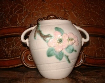Vintage Weller Pottery dogwood vase//251