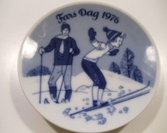 Limited Edition Porsgrund Fathers Day Plate-1976-//263// sale price