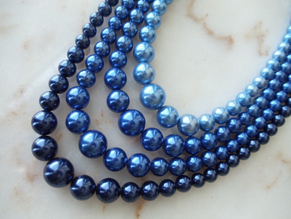 Something Blue Pearl NecklaceRESERVED FOR PENNY