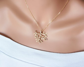 Golden tree of life necklace - Gold , Mother's Day gift , Birthday gift ,Christmas gift , family gift , for her , mom daughter sister gifts