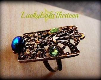 Upcycled vintage swarovski ring